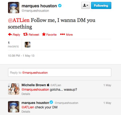 Marques Houston Tweet 1