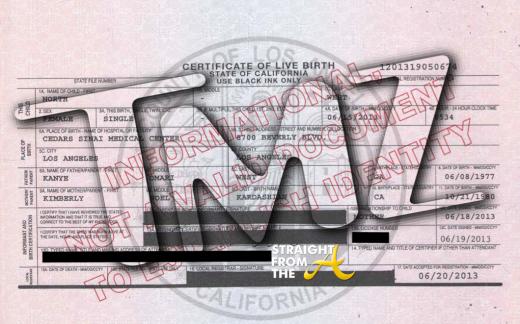 North West Birth Certificate