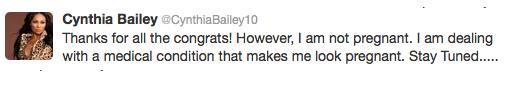 Cynthia Bailey Tweet