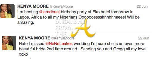 Kenya Moore Tweet