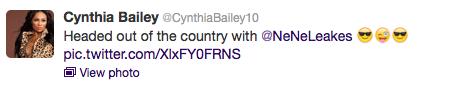 cynthia bailey tweet 9