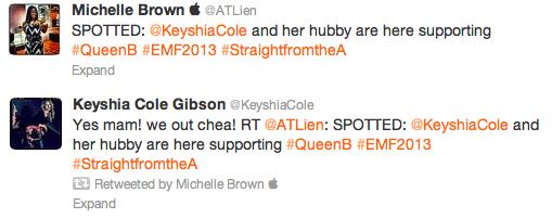 ATLien Keyshia Cole Tweet EMF 2013