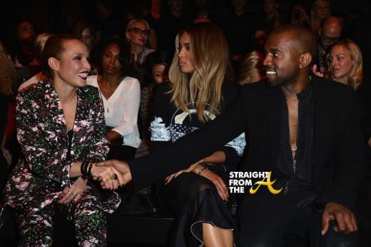 Ciara Kanye Givenchy Front Row Paris Fashion Week PFW 2013 1