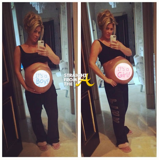 Kim Zolciak Baby Bump Twins StraightFromTheA 2013