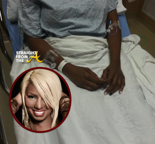 NeNe-Leakes-in-the-Hospital-With-IVs