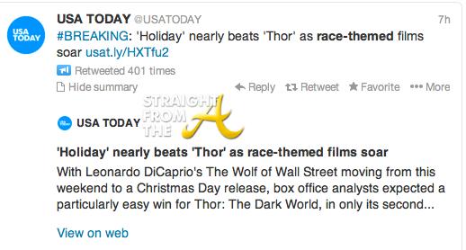 USA TODAY Race-Themed Twitter Headline