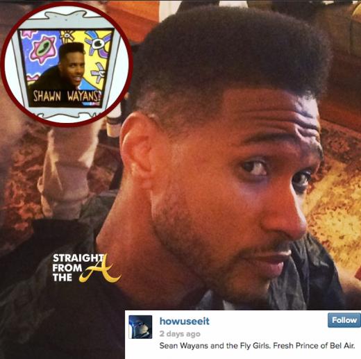 Usher Raymond Haircut Shawn Wayans  2014 StraightFromTheA 4