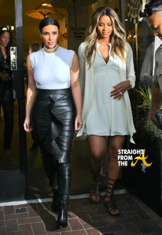 Kim Kardashian and Pregnant Ciara 021314 StraightFromTheA 1