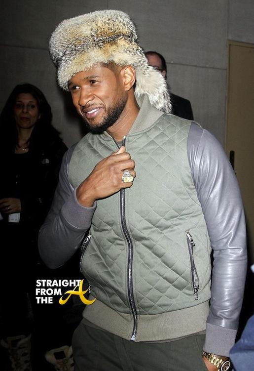 Usher Raymond Furry Hat StraightFromTheA 2014-5