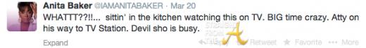 Anita Baker Tweet 1