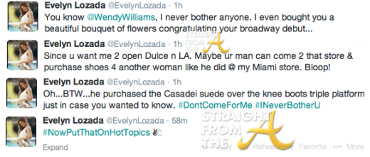 Evelyn Wendy Williams Tweets StraightFroMTheA