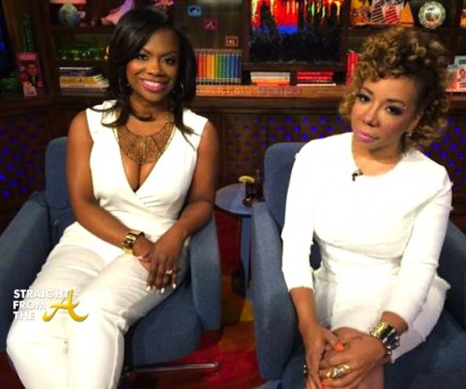 Kandi and Tiny on WWHL StraightFromTheA 2014 13
