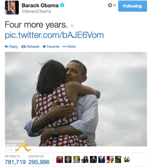President Obama Most Popular Tweet StraightFromTheA
