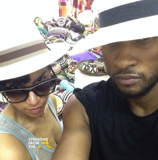 Usher and Grace StraightFromTheA 2014