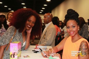Chrisette Michele signs autographs for fans