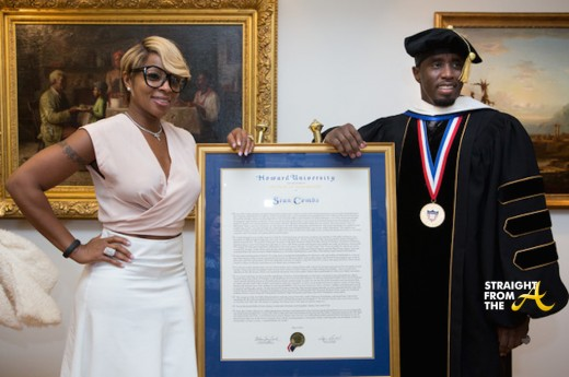 Mary J Blige Sean Diddy Combs - Howard Commencement 2014