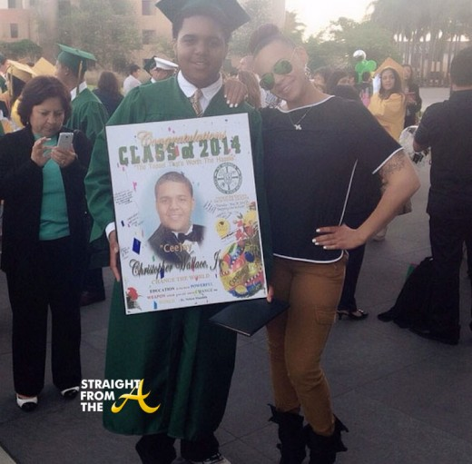 Christopher Wallace Jr. Graduation Faith Evans - 2014 StraightFromTheA