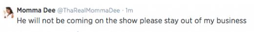 Momma Dee Tweet 3