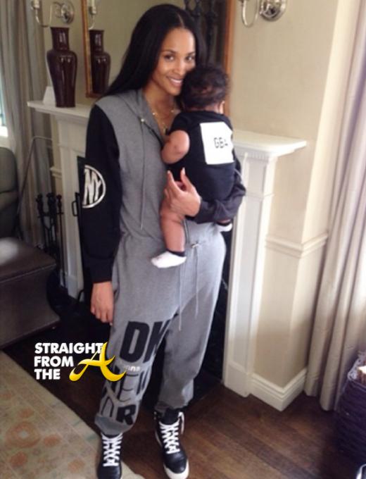 Ciara and Baby Future - NYC 2014 - StraightFromTheA 5