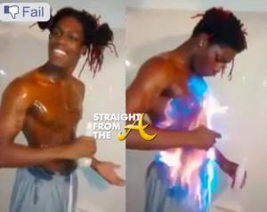 Facebook Fire Challenge Fail - StraightFromTheA