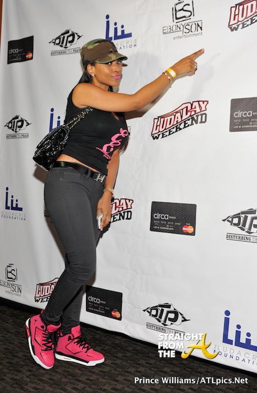 Monyetta Shaw - LUdaDay Celebrity Bowling Challenge 2014-15
