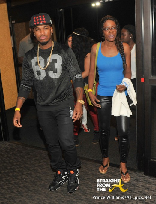 Neyo and Lorraine (Mom) Arrive