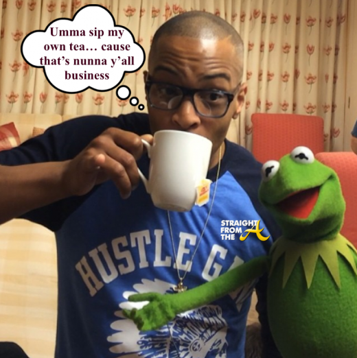 T.I. sips tea with Kermit - StraightFromTheA
