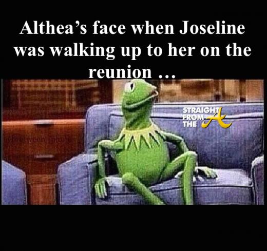 Althea's face - LHHATL Reunion Fight - StraightFromTheA