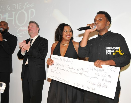 Donna Kelly Pratte and sponsorhip awardee Javaun Mundle