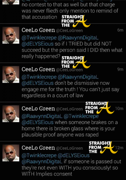 Ceelo Rape Tweets