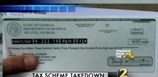 Bogus 94 Million tax check - brigitte jackson - straightfromthea