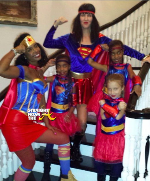 Kim Porter and Twins - Halloween 2014