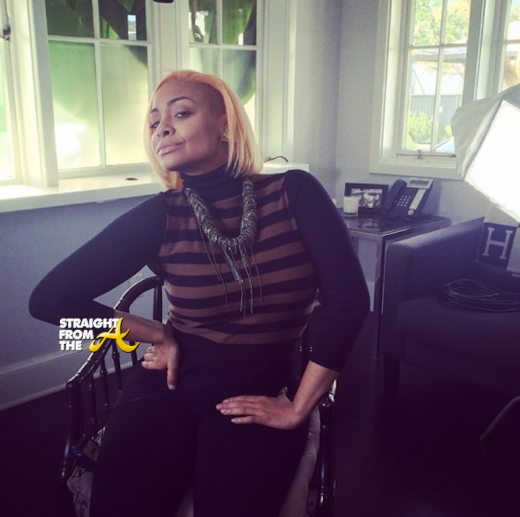Raven Symone New Peach Hair Color