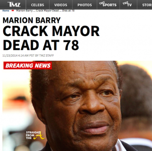 TMZ Crack Mayor Headline 2014