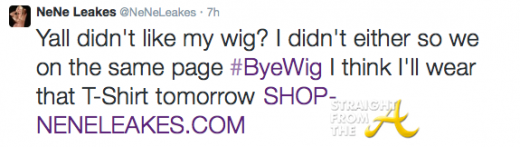 Nene Leakes Tweet 1