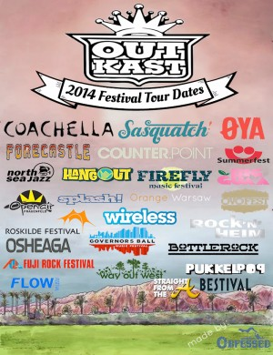 Outkast 20 Festival Tour Dates 2014 - StraightFromTheA