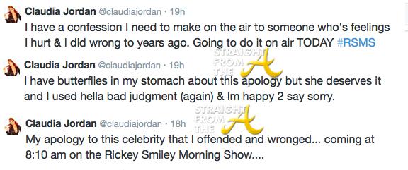 Claudia Jordan Tweets
