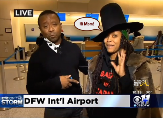 Erykah Badu Dallas Airport 2015 3
