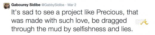 Gabourey Sidibe Tweet