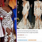 The SHADE! #RHOA Kenya Moore 'Beyonce-Inspired' Reunion Show Knock-Off Dress Discovered Online… (PHOTOS)