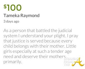 Tameka Raymond Donation 1