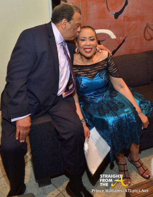 Andrew Young and wife share a kiss