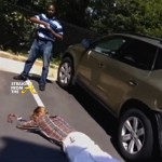 Caught on Tape! Black Man Holds White Carjacker At Gunpoint Until Police Arrive… [VIDEO]