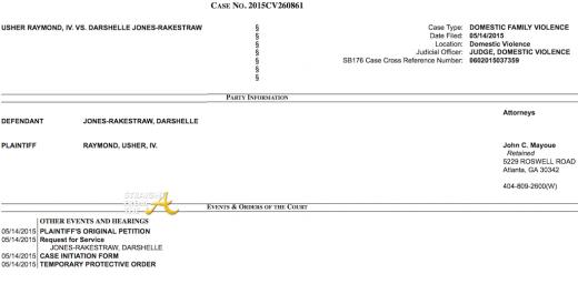 Usher Restraining Order May 2015