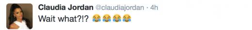 Claudia Jordan Tweet 1