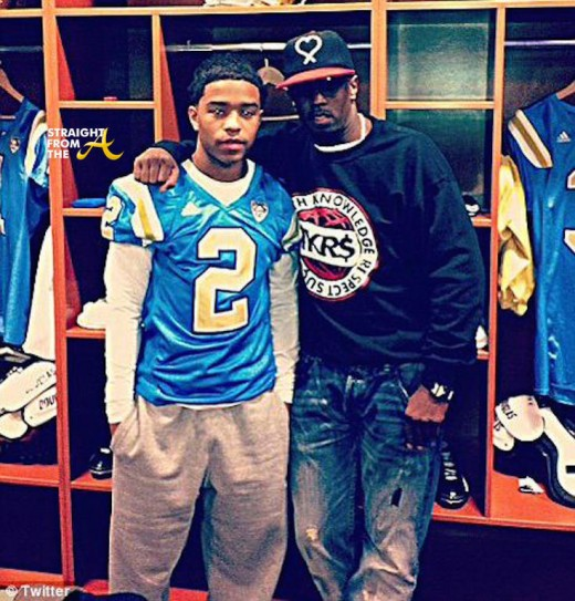Diddy and Justin Combs - UCLA