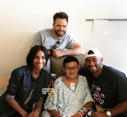 Ciara Russell Wilson Joel McHale - Seattle Childrens Hospital 0715 2