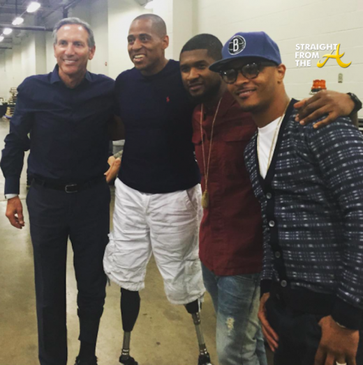 Howard Shultz (Starbucks) Cedric King, Usher and T.I.