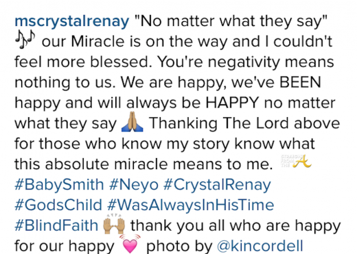 Neyo Crystal Renay married pregnant 4
