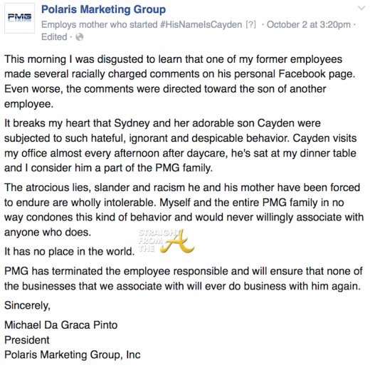 Polaris Marketing Group Statement